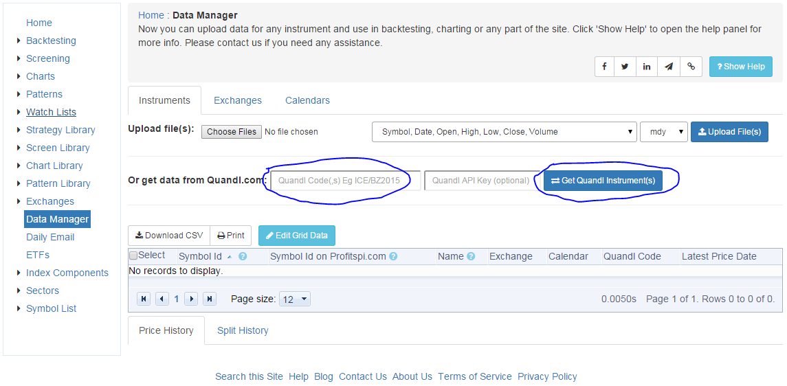 How to Backtest a Dataset from Quandl com